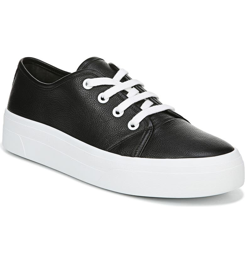 VIA SPIGA Viola Platform Sneaker, Main, color, BLACK LEATHER