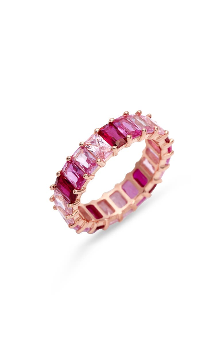 ADINA'S JEWELS Adina's Jewels Ombré Pink Eternity Band, Main, color, MAGENTA