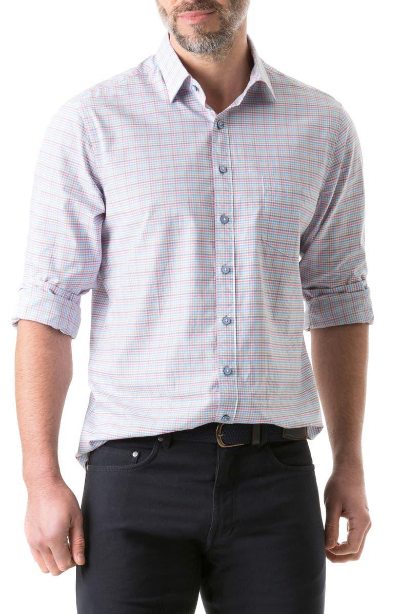 RODD & GUNN Franklin Plaid Sport Shirt, Main, color, 950