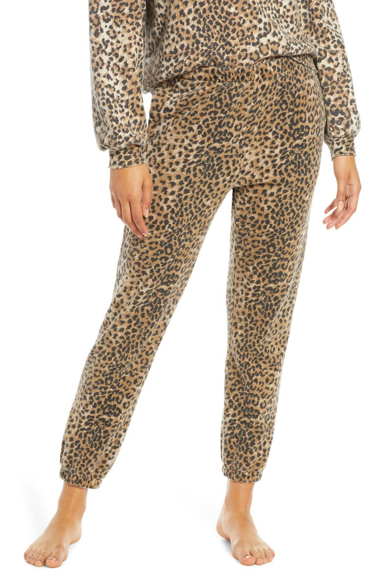 RAGDOLL Leopard Print Jogger Pants, Main, color, BROWN LEOPARD
