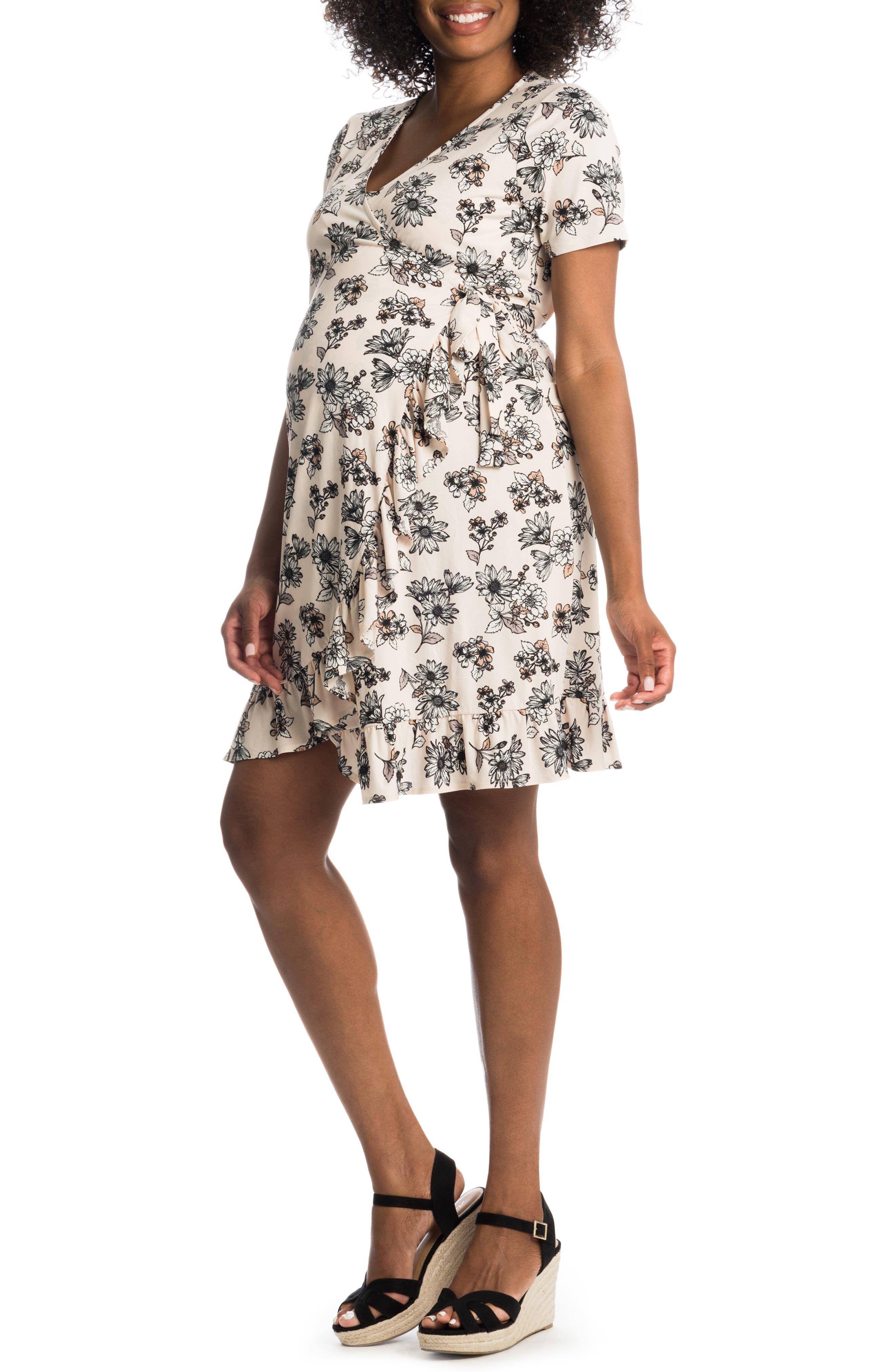 Araceli Maternity/nursing Wrap Dress