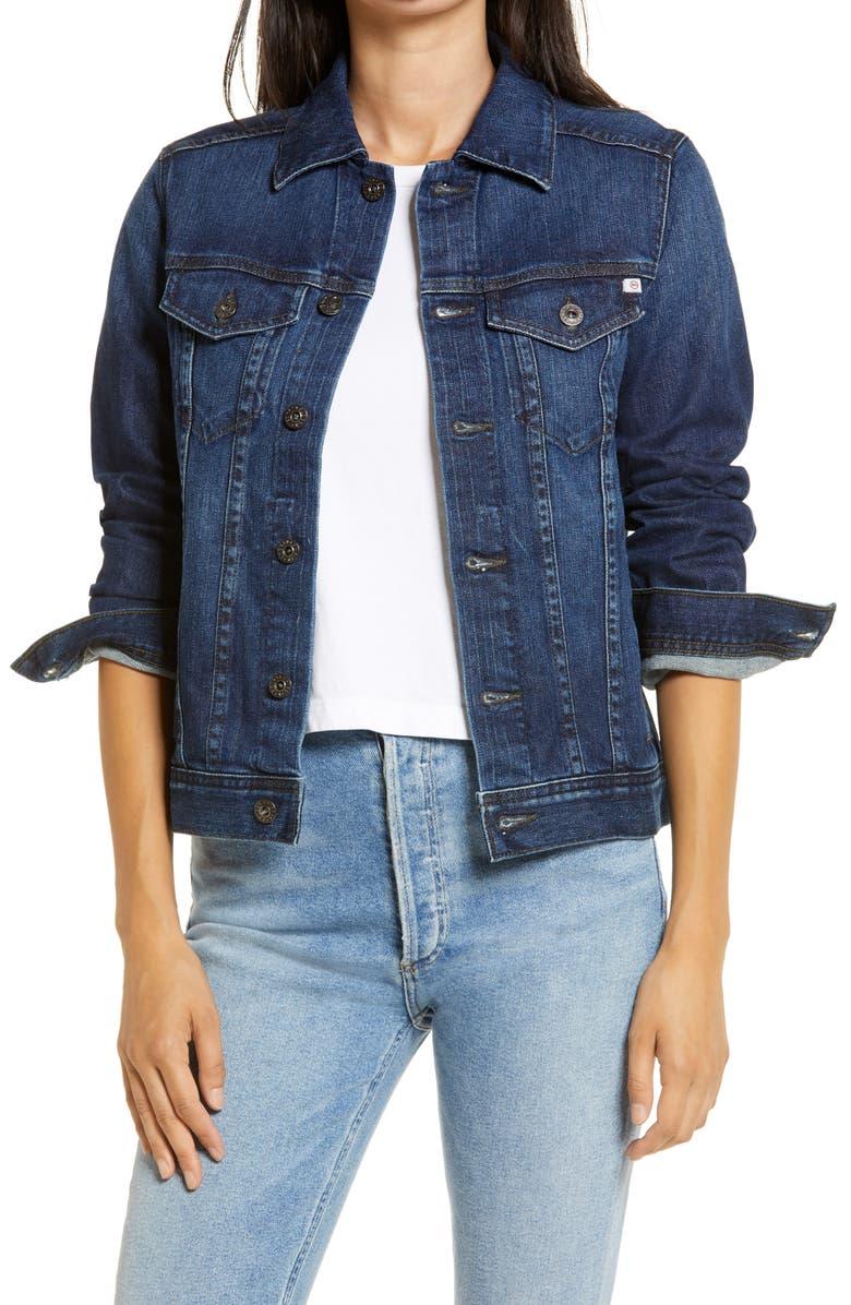 AG 'Mya' Denim Jacket, Main, color, 406