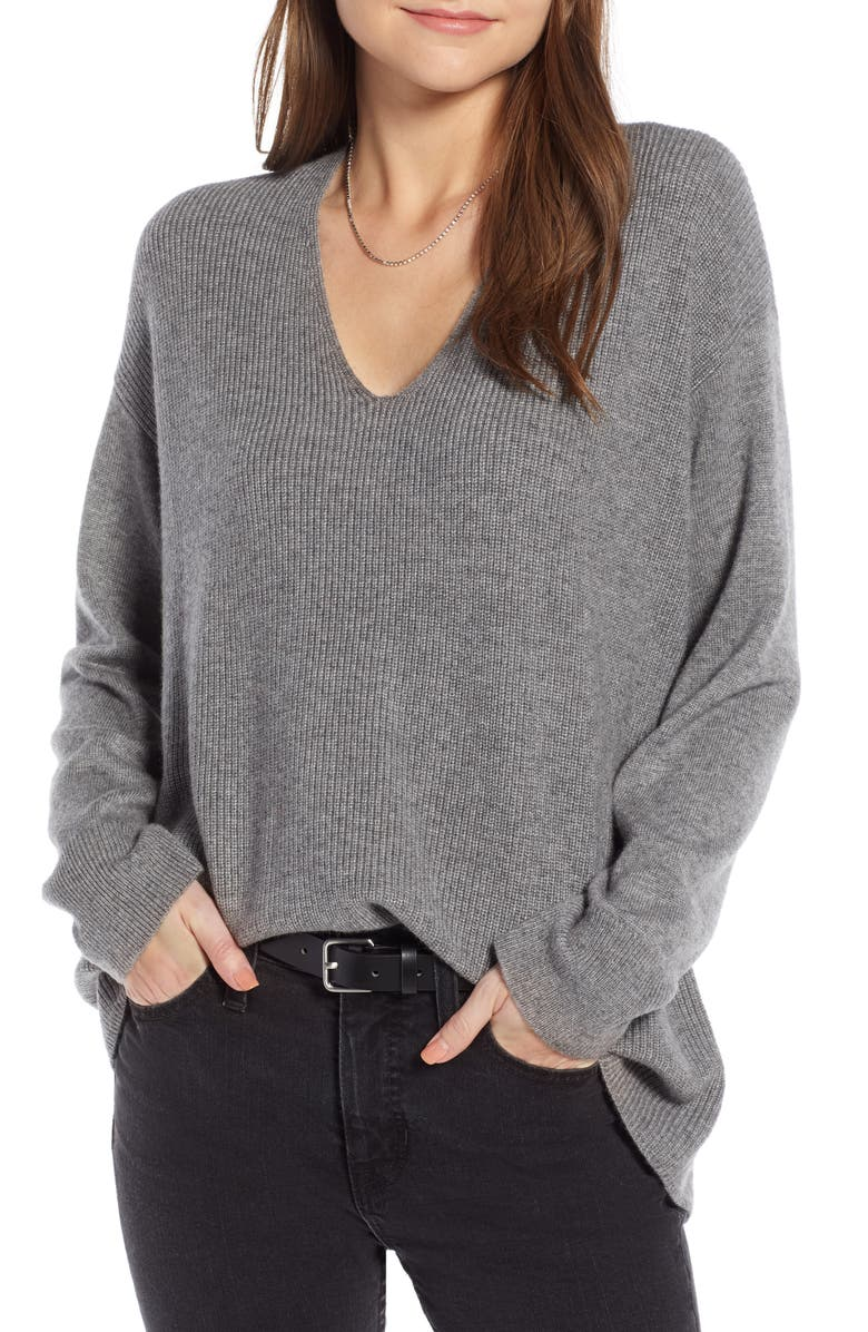 SOMETHING NAVY Slouchy Sweater, Main, color, 030