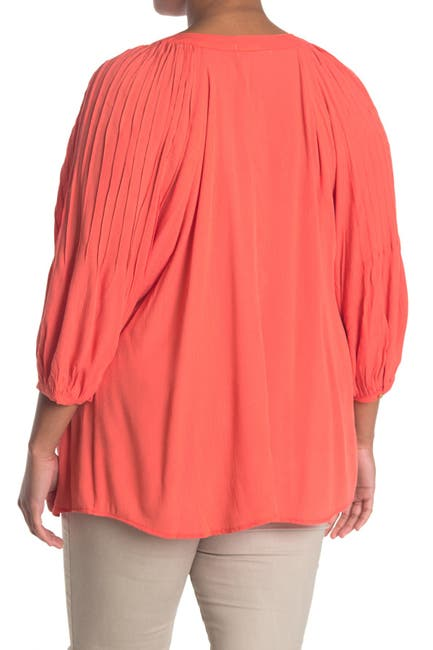Image of 14TH PLACE Pleated Sleeve Blouse