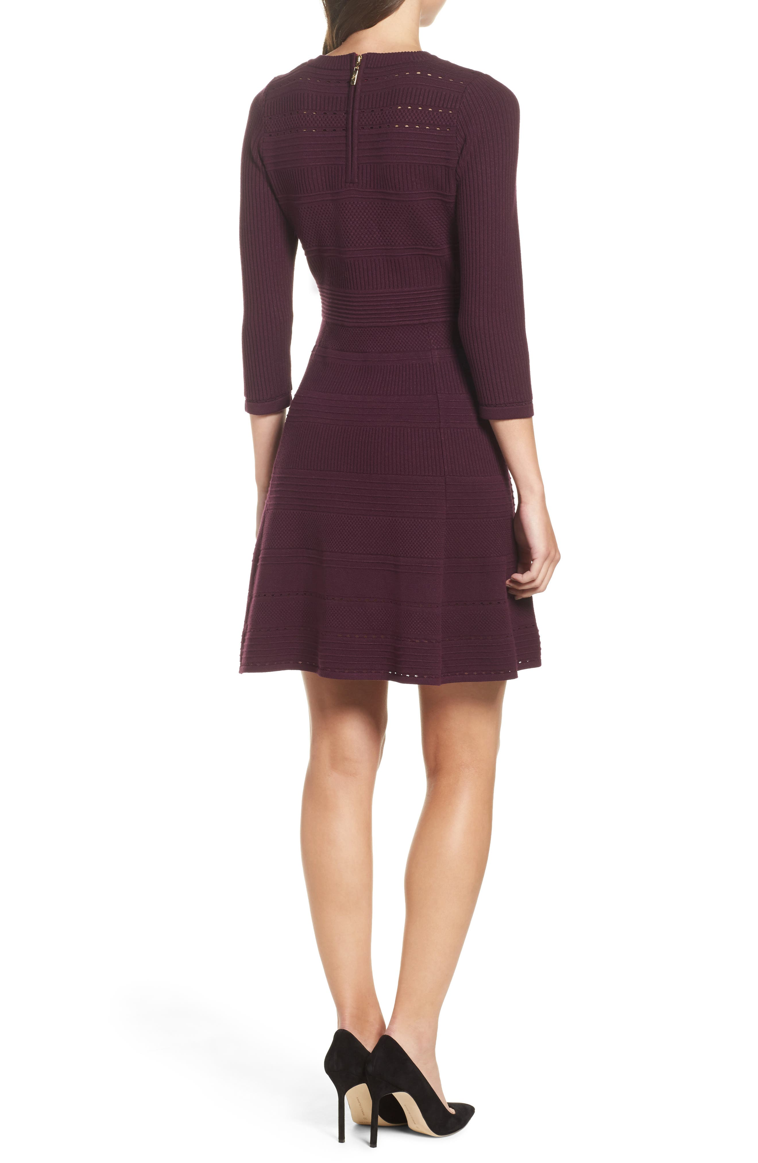 ,                             Fit & Flare Sweater Dress,                             Alternate thumbnail 27, color,                             930