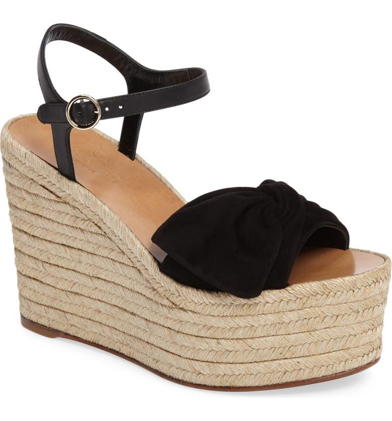 31012253812 Valentino 'Bow' Espadrille Wedge Sandal (Women) | Nordstrom
