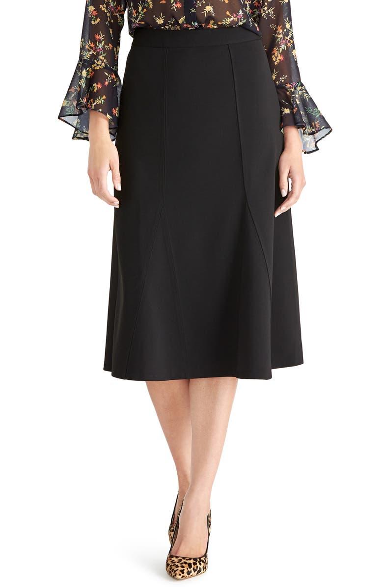 RACHEL ROY COLLECTION Seamed A-Line Skirt, Main, color, BLACK
