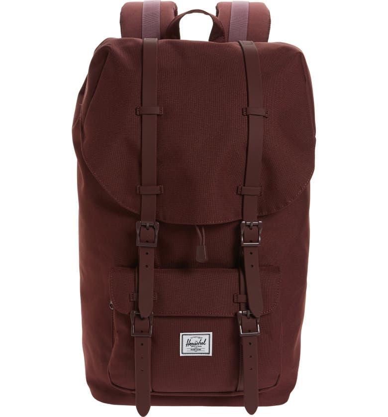 HERSCHEL SUPPLY CO. Purple Little America Backpack, Main, color, 522