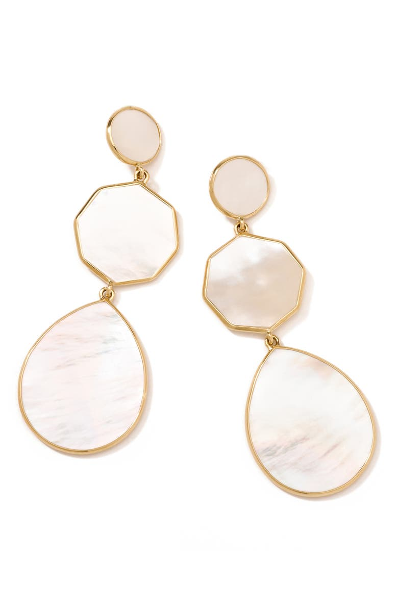 IPPOLITA Rock Candy Drop Earrings, Main, color, GOLD/ PEARL