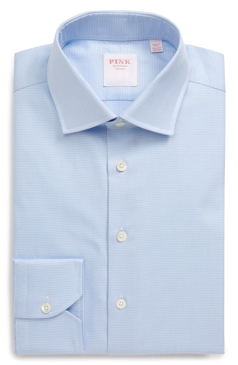 THOMAS PINK Slim Fit Check Twill Button-Up Dress Shirt, Main, color, 450