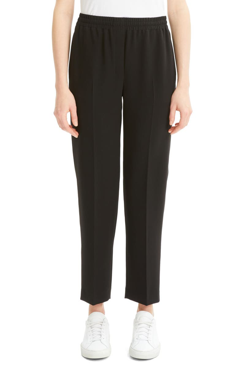 THEORY Classic Fit Easy Trousers, Main, color, BLACK