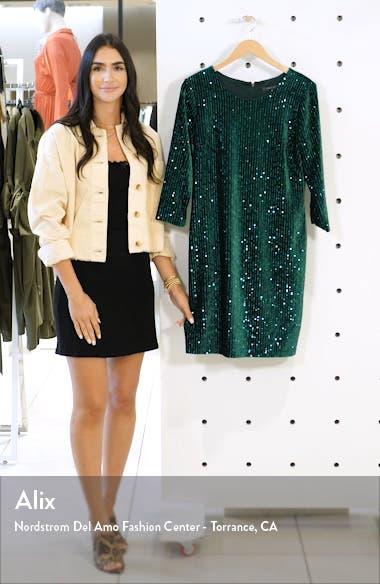 Velvet Sequin Sheath Dress, sales video thumbnail