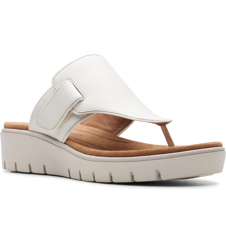 CLARKS<SUP>®</SUP> Un Karely Sea Slide Sandal, Main, color, WHITE LEATHER