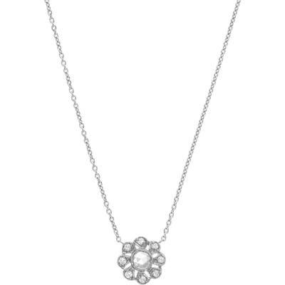 Sethi Couture Petit Floral Diamond Pendant Necklace