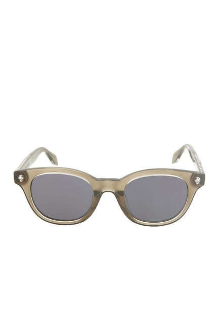 Image of Alexander McQueen 47mm Acetate Frame Round Sunglasses