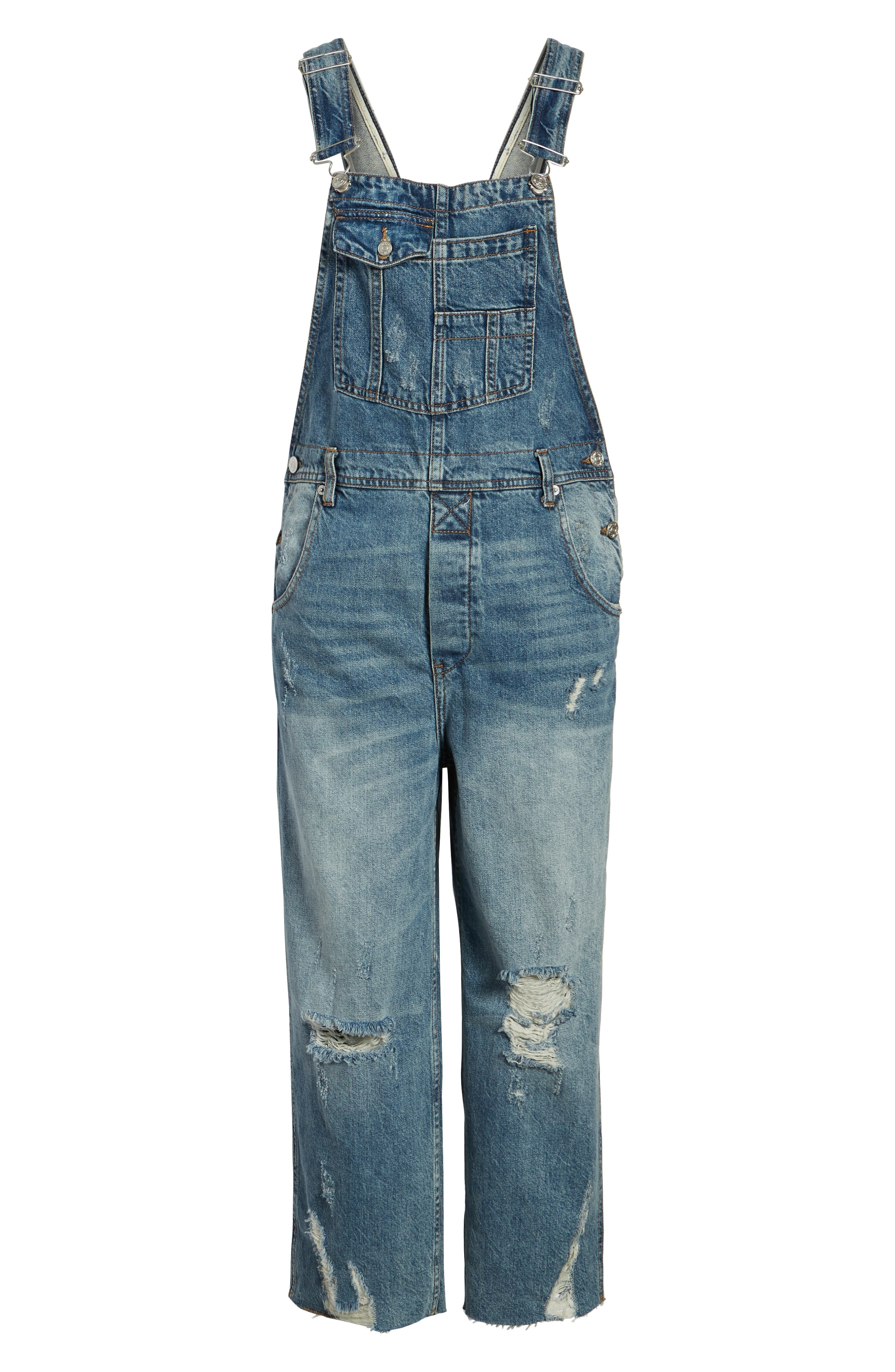 ,                             Baggy Crop Overalls,                             Alternate thumbnail 6, color,                             456