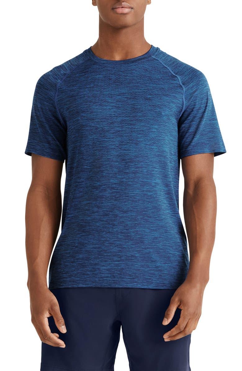 RHONE Reign Tech Short Sleeve T-Shirt, Main, color, EGYPTIAN BLUE/ BLUE MATRIX