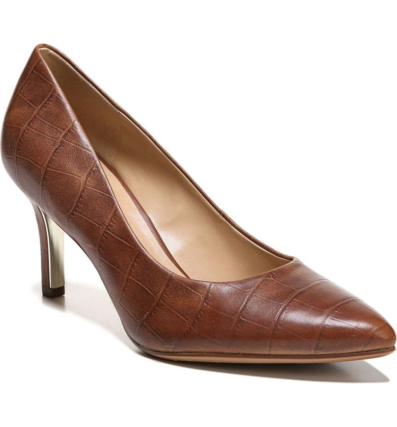 NATURALIZER Natalie Pointy Toe Pump, Main, color, CROCO LEATHER