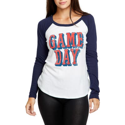 Chaser Game Day Baseball Tee, Black