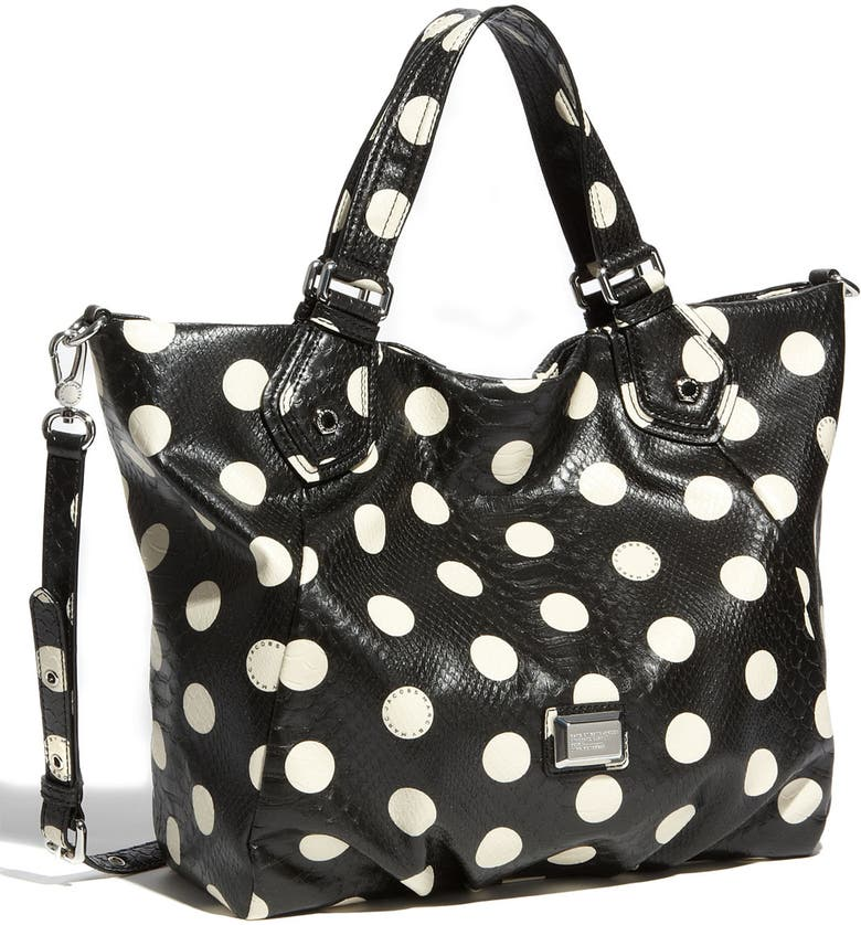 MARC JACOBS MARC BY MARC JACOBS 'Dotty Snake Fran' Faux Leather Tote, Main, color, 017