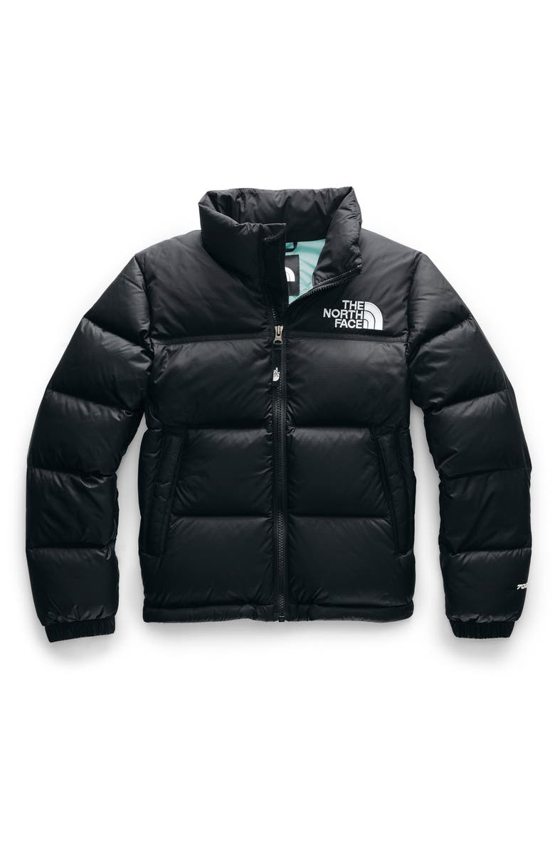 THE NORTH FACE Nuptse 1996 700 Fill Power Down Jacket, Main, color, TNF BLACK/ WINDMILL BLUE