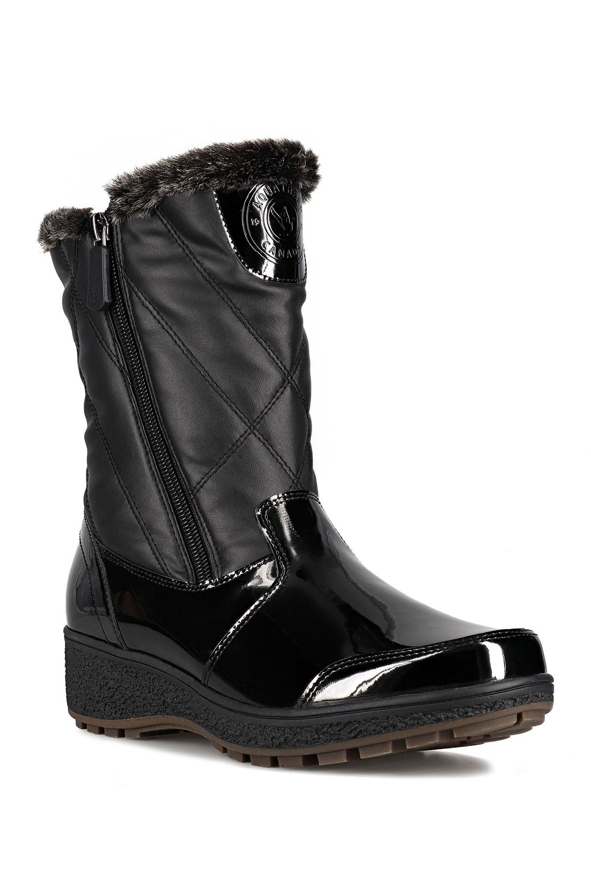Image of Aquatherm by Santana Canada Tasha Faux Fur Lined Quilted Winter Boot