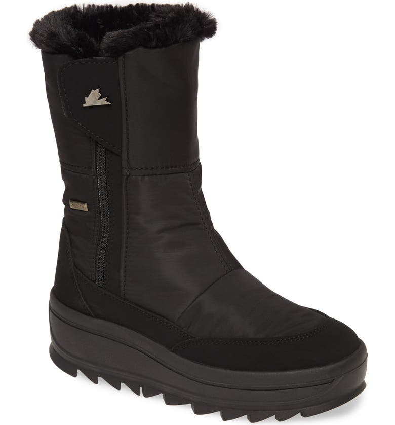 PAJAR Tanni 2.0 Waterproof Boot with Faux Fur Lining, Main, color, BLACK