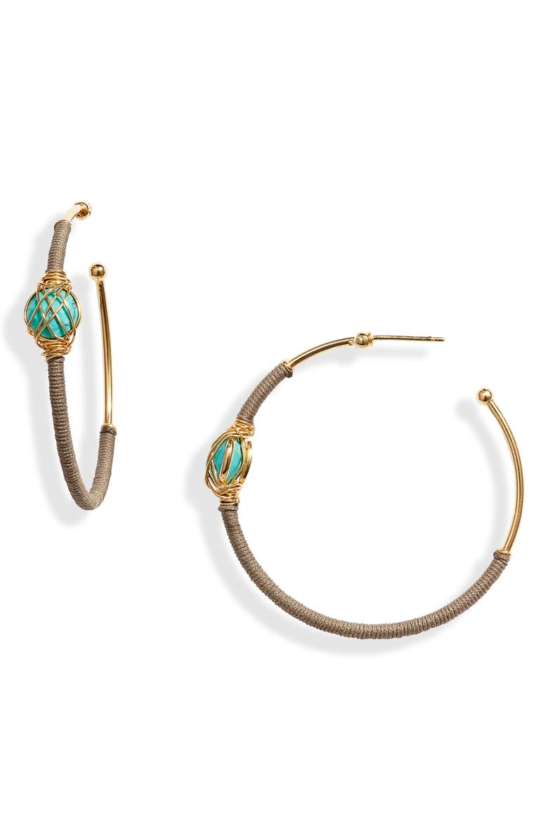 Gas Bijoux Creole Serti Hoop Earrings