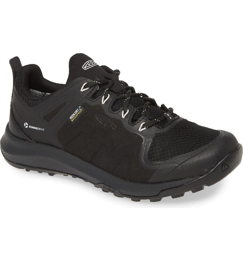 KEEN Explore Waterproof Mid Top Trail Shoe, Main, color, BLACK/ STAR WHITE