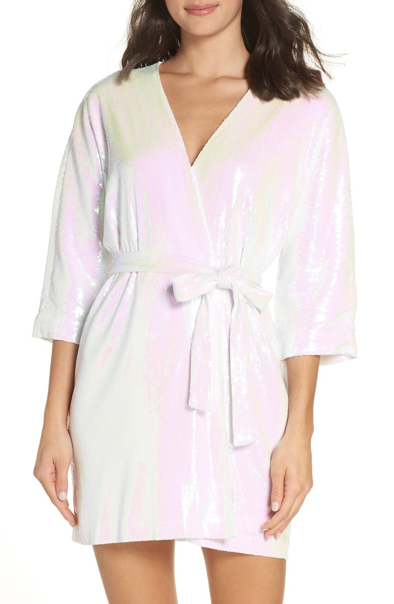 HAYLEY PAIGE Wedding Day Sparkle Robe, Main, color, 900
