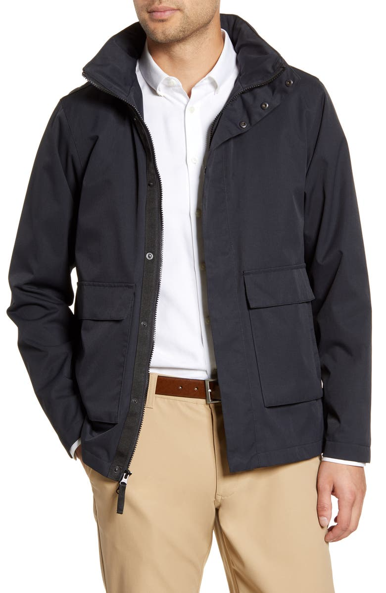 BARO The Lowry Water Repellent Field Jacket, Main, color, BLACK