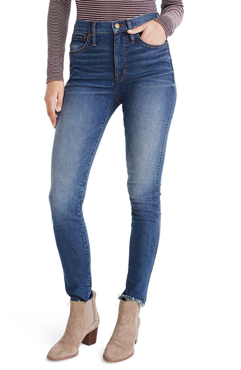 MADEWELL High Waist Skinny Jeans, Main, color, 400