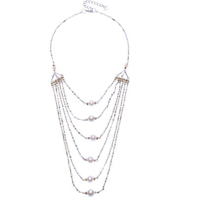 Nakamol Design Layered Freshwater Pearl Necklace