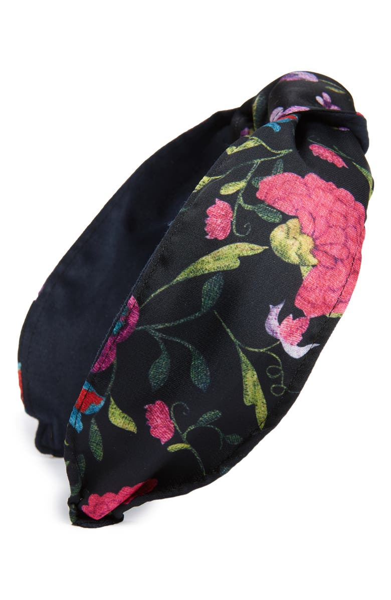 CARA Print Knot Headband, Main, color, 001