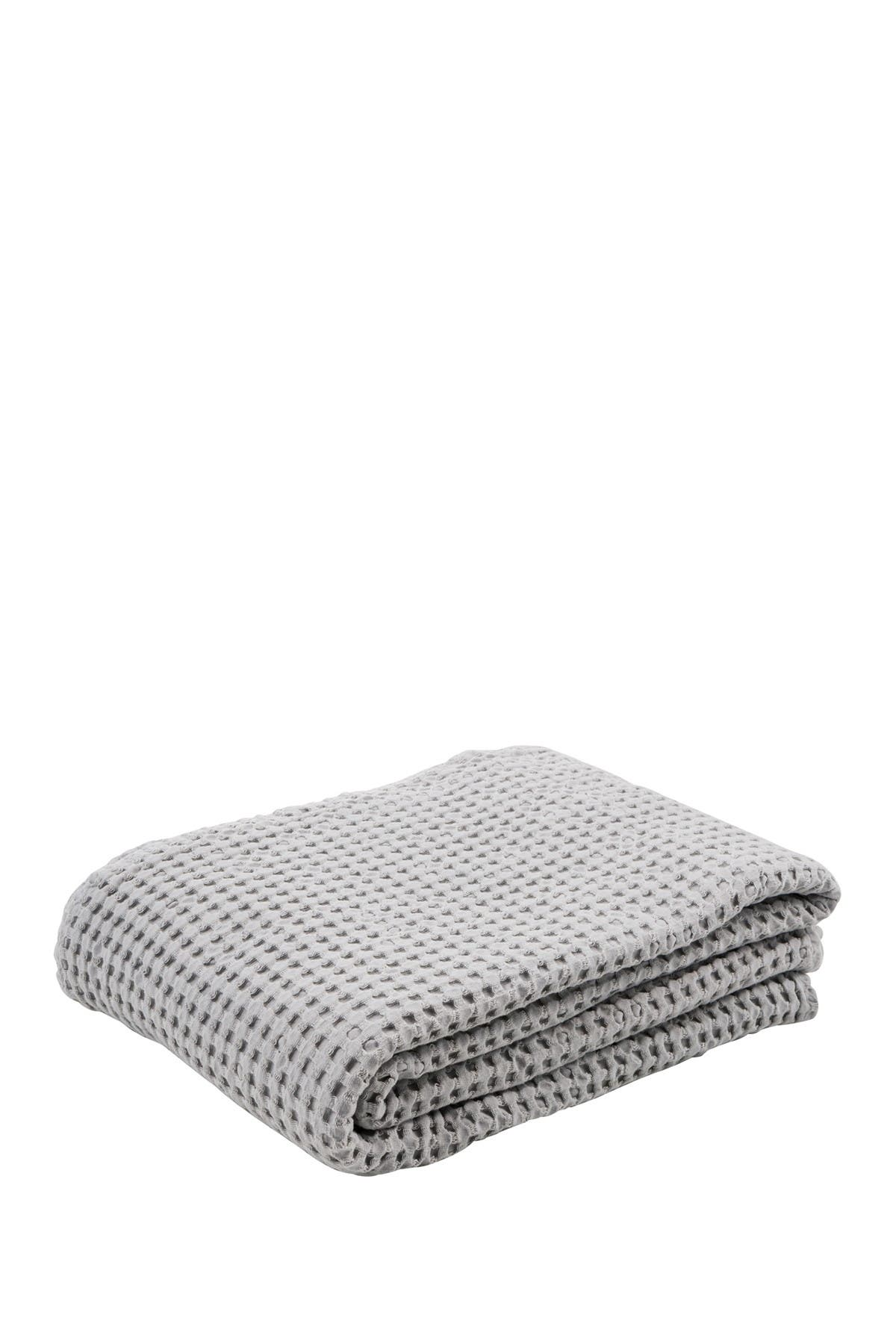 Image of EIGHTMOOD Stone Grey Waffle Throw