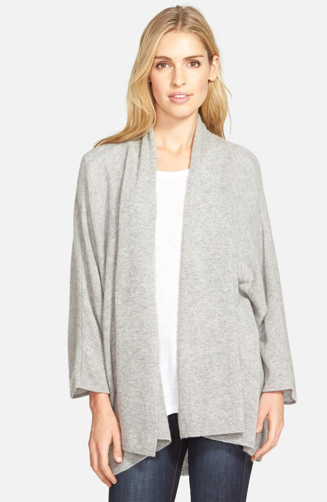 ,                             Open Front Cashmere Cardigan,                             Main thumbnail 3, color,                             020