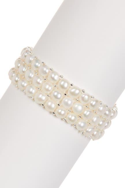 Image of Splendid Pearls Triple Row 6-6.5mm Pearl Bracelet