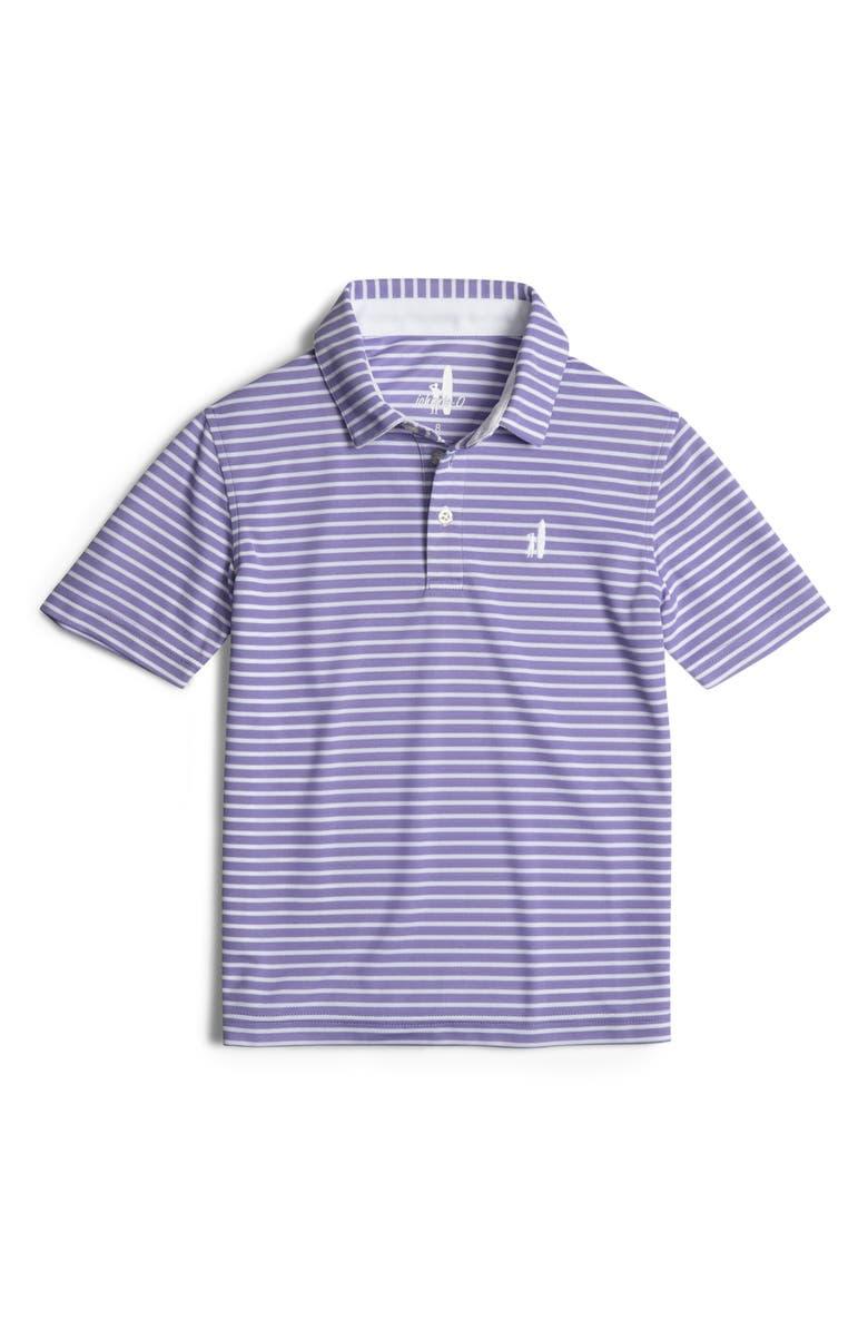 JOHNNIE-O Linus Polo Shirt, Main, color, PLUM CRAZY