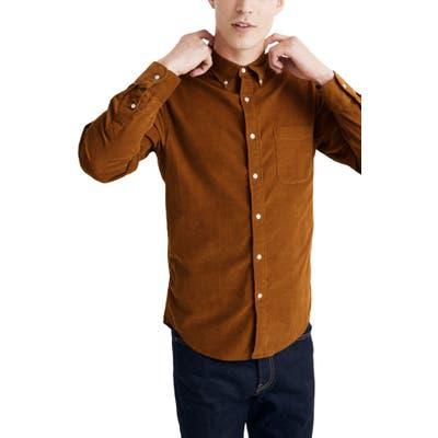 Madewell Corduroy Button-Down Shirt, Brown