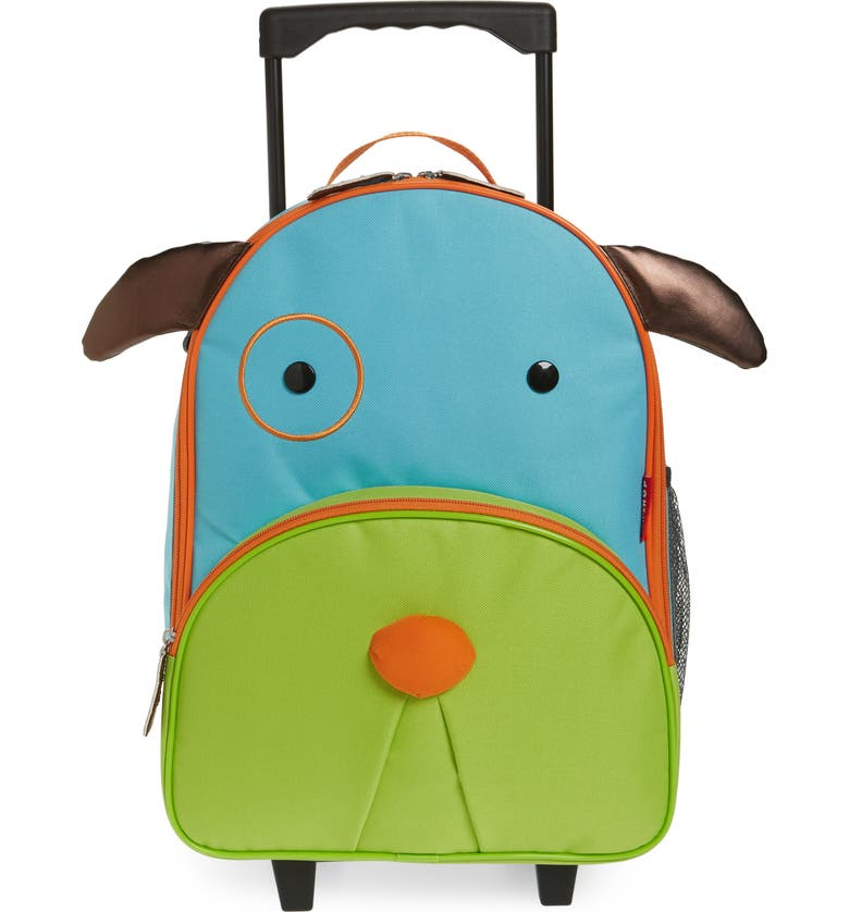 SKIP HOP Dog Rolling Luggage, Main, color, BLUE DOG