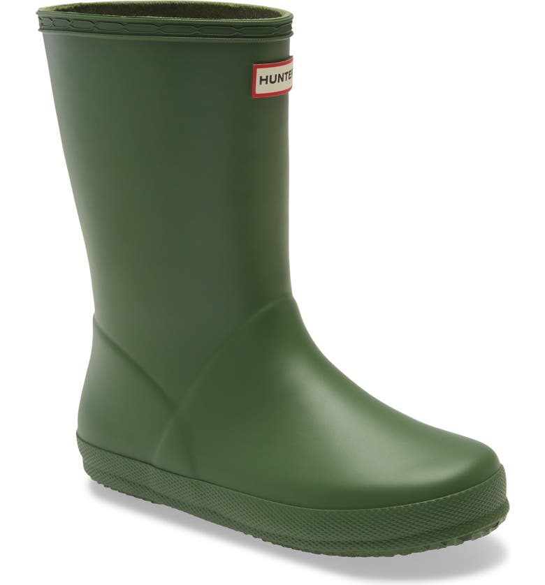 HUNTER First Classic Waterproof Rain Boot, Main, color, SCOTTISH MOSS