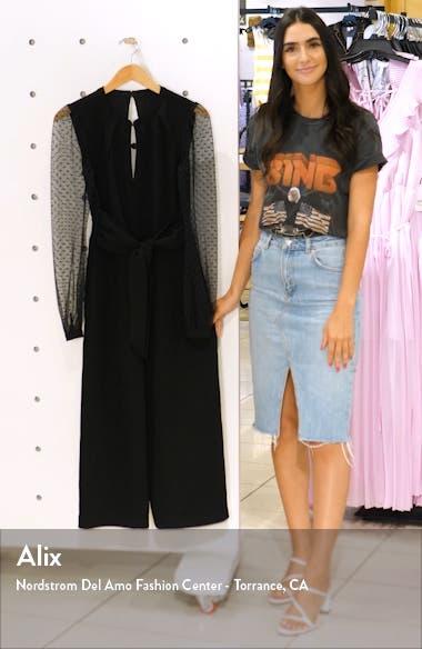 Alina Long Sleeve Open Back Jumpsuit, sales video thumbnail