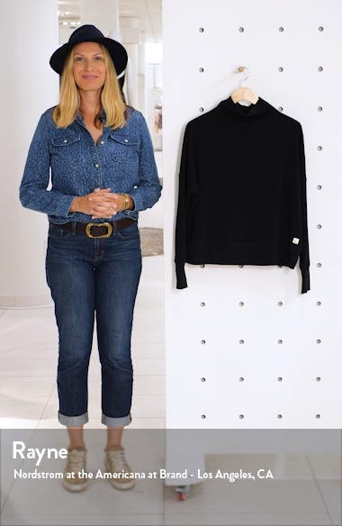 French Terry Funnel Neck Sweatshirt, sales video thumbnail