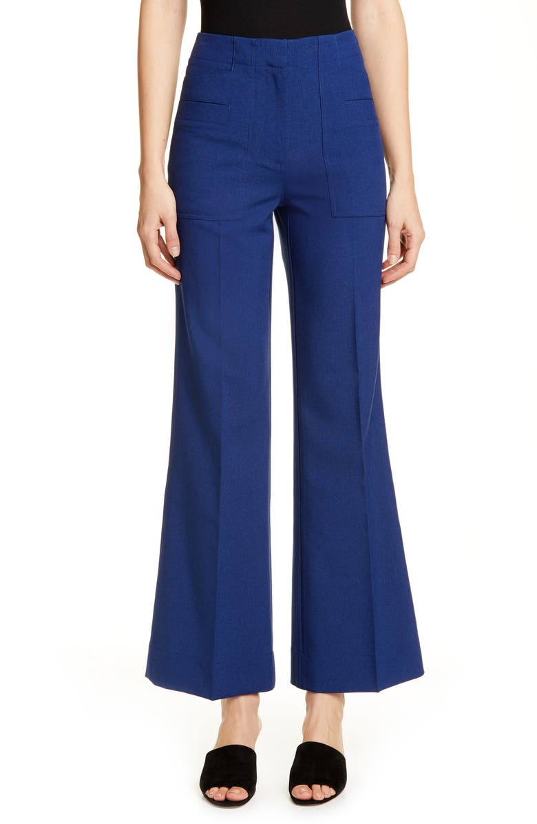 ACNE STUDIOS Portia Flare Trousers, Main, color, 400