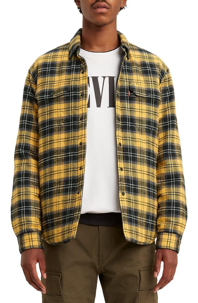 LEVI'S<SUP>®</SUP> Jackson Regular Fit Button-Up Shirt Jacket, Main, color, ARCHER GOLDEN APRICOT