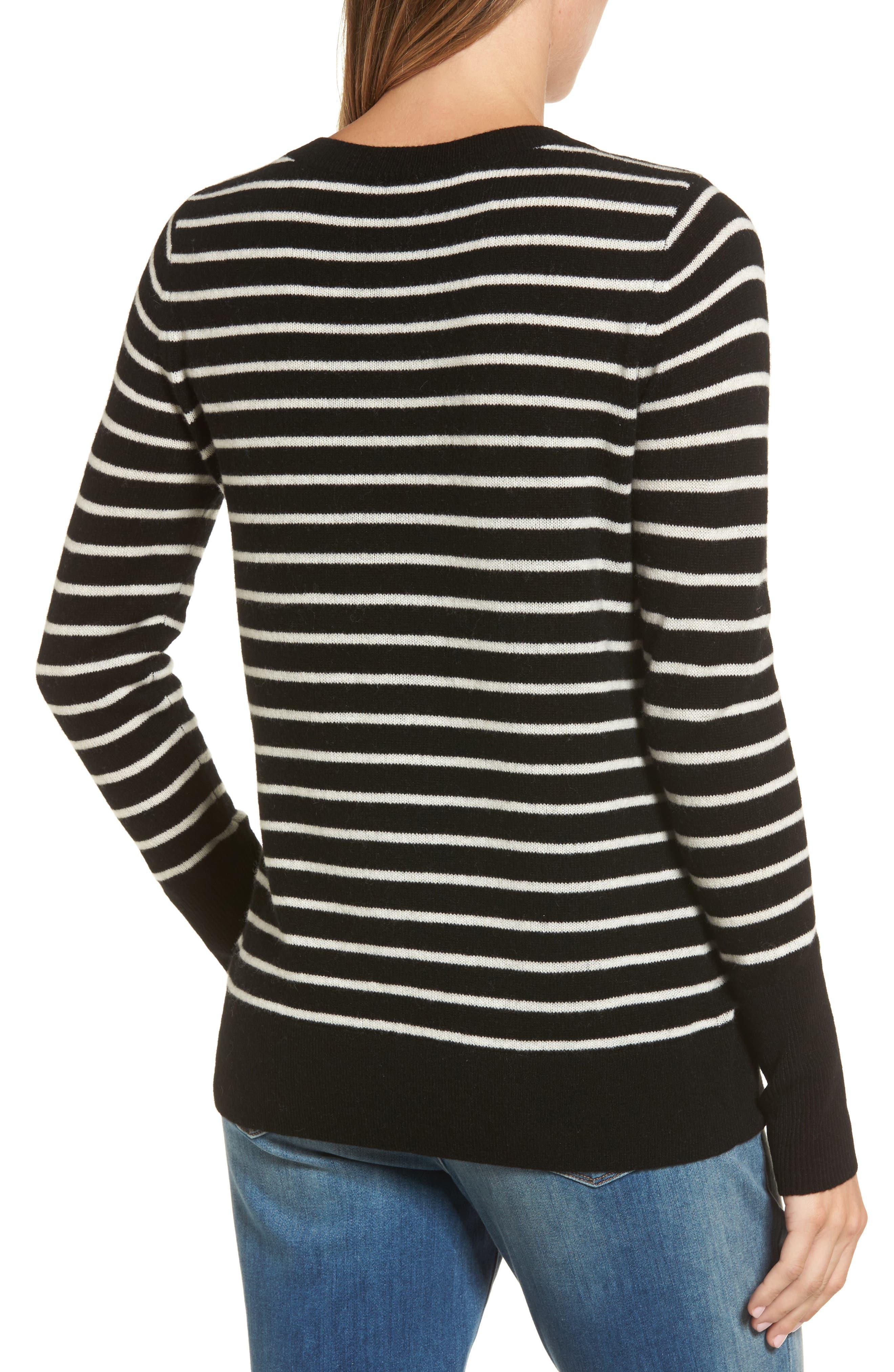 ,                             V-Neck Cashmere Sweater,                             Alternate thumbnail 8, color,                             003