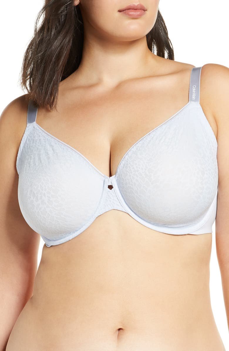 CALVIN KLEIN Seductive Comfort Underwire Bra, Main, color, ICE PULP