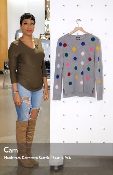 Multicolor Dot Pattern Cashmere Sweater, sales video thumbnail