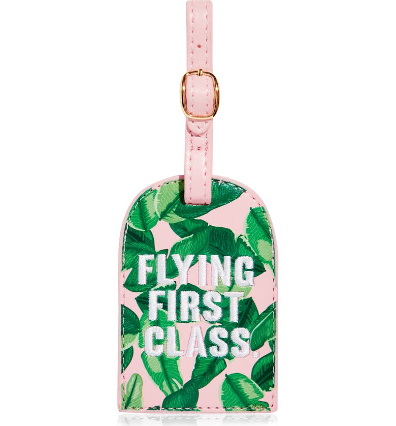 SKINNYDIP Flying First Class Luggage Tag, Main, color, 650