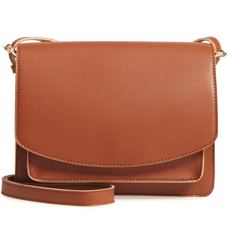 SOLE SOCIETY 'Michelle' Faux Leather Crossbody Bag, Main, color, 201